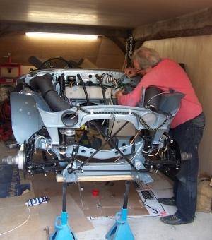 Working on a Healey rebuild