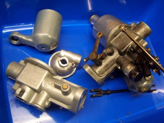 Carburettor before and after cleaning