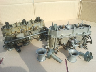 Carburettor before and after rebuild